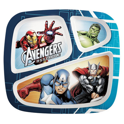 Zak Designs Avengers Assemble Kid's Sectioned Feeding Plate - ZAK DESIGNS, INC./INFANT DIVISION