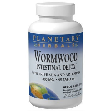 Planetary Herbals Wormwood Intestinal Detox 800 Mg, 60 Tablets