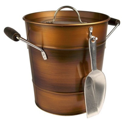 Artland Artand Oasis Antique Copper Ice Bucket with Scoop - Gold (2 Gallon)