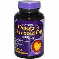 Natrol Omega-3 Flax Seed Oil 1000 mg 90 Softgels