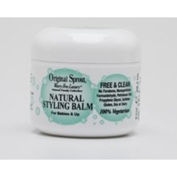 Original Sprout Natural Styling Balm (2 oz) - Strengthens, Smoothes, & Fights Frizz; Tames Unruly Hair while Protecting Against Breakage