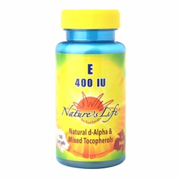 Nature's Life Vitamin E 400 IU