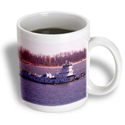 Recaro North 3dRose - Sandy Mertens Ohio - Tugboat Ohio River - 11 oz mug