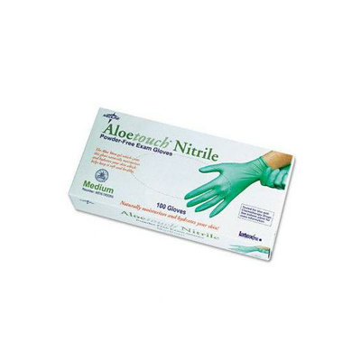Medline Aloetouch Disposable Powder-Free Nitrile Exam Gloves
