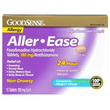 Good Sense Aller-Ease Fexofenadine Hydrochloride Tablets, 180 mg/Antihistamine, 15-count