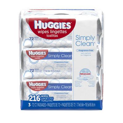 Huggies® Simply Clean Fragrance Free Wipes