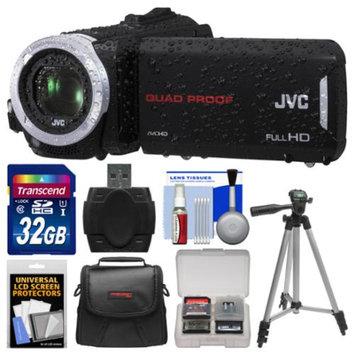 JVC Everio GZ-R30 Quad Proof Full HD Digital Video Camera Camcorder with 32GB Card + Case + Tripod + Accessory Kit
