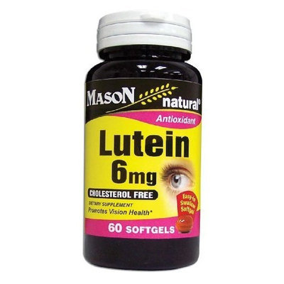 Mason Vitamins Lutein 6 Mg Softgels, 60-Count Bottles (Pack of 2)
