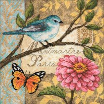 Other Dimensions Gold Collection Petite Bird Poste Counted Cross Stitch Kit