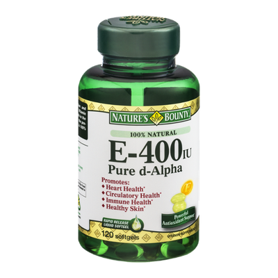 Nature's Bounty E-400iu Pure d-Alpha Softgels - 120 CT