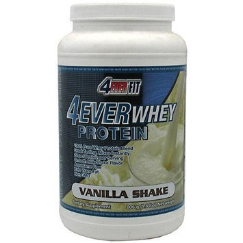 4ever Fit 4ever Whey Protein, Vanilla Shake Flavor Protein Powder, 1.8 Lb, Unit