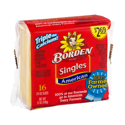Borden Singles American Cheese