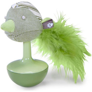Worldwise Loved Ones Wobble Bird Catnip Cat Toy-Green