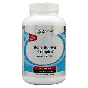 Vitacost Brand Bone Booster Complex from Vitacost with Calcium Vitamin D Vitamin K K1 K2 Magnesium Folic Acid Vitamin B12 Vitamin C Phosphorus Zinc Copper Manganese Glucosamine and Boron - 240 Capsules