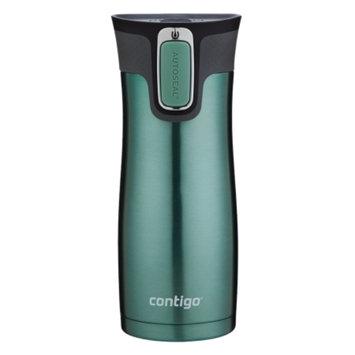 Contigo Autoseal West Loop Travel Mug with Easy-Clean Lid, Greyed Jade, 16 oz