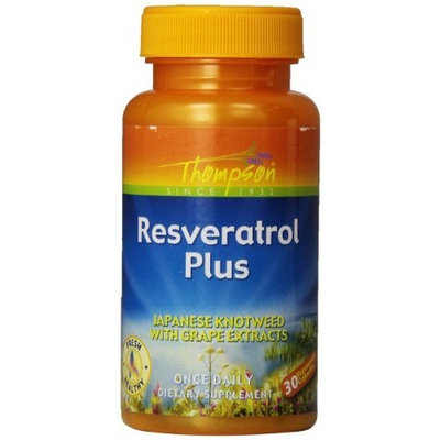 Thompson Resveratrol Plus, 30-Count (Pack of 2)