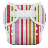 Thirsties Duo Diaper, Warm Stripes, Size Two (18-40 lbs)