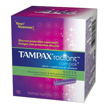Tampax Radiant Compak Tampons with Plastic Applicator