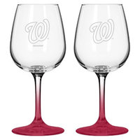 Boelter Brands MLB Nationals Set of 2 Wine Glass - 12oz