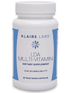 Klaire Labs, LDA Multi-Vitamin 90 Vegetarian Capsules