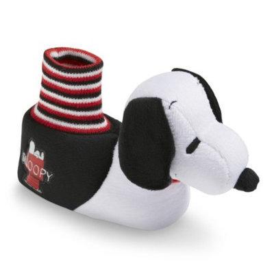 Toddler Boy's Snoopy Slipper Socks - Black/White XLRG