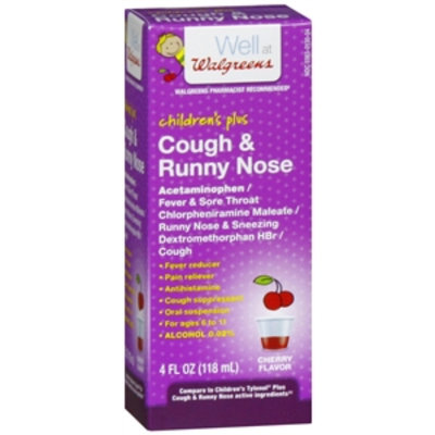 Walgreens Children's Plus Cough & Runny Nose Oral Suspension