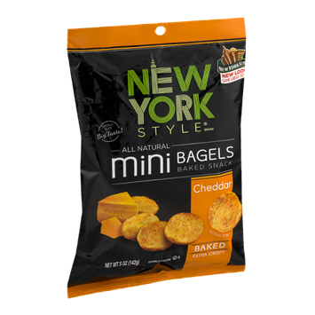 New York Style Mini Bagels Baked Snack Cheddar