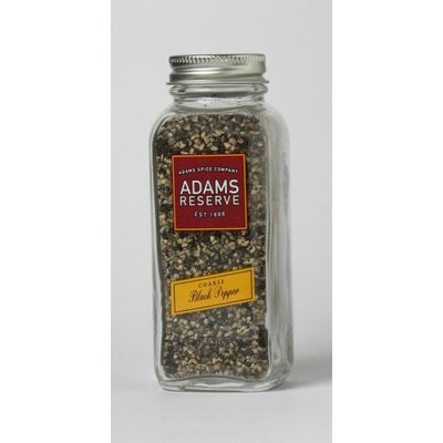 Adams Extracts Black Pepper, Coarse, 2.20-Ounce Glass Jar (Pack of 6)