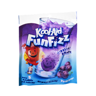 Kool-Aid Fun Fizz Gigglin' Grape Drink Drops- 8 CT