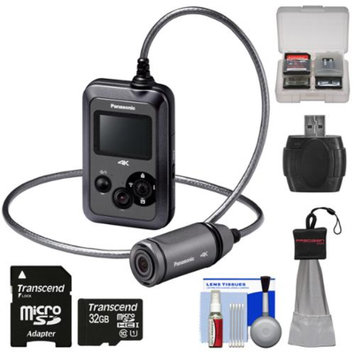Panasonic HX-A500H 4K HD 25p POV Wearable Waterproof Video Camera Camcorder with 32GB Card + Kit