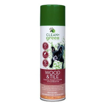 Clean Green Clean + Green Wood and Tile Pet Odor and Stain Remover for Dogs, 16-Ounce