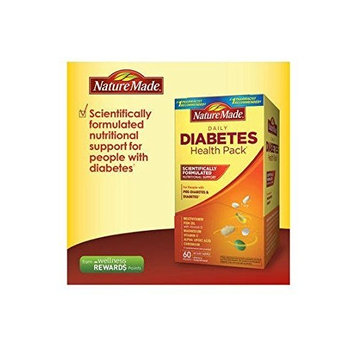Nature Made Diabetes Health Pack Nutritional Support for Diabetes and Pre-diabetes of 60 Packets (6 VITAMINS)