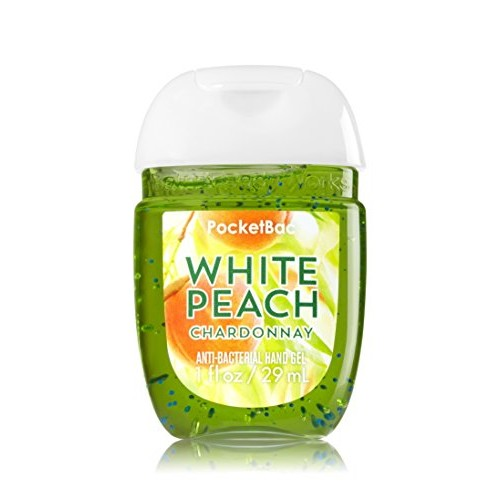Bath & Body Works PocketBac Hand Sanitizer Gel White Peach Chardonnay