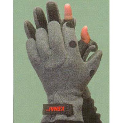 Glacier Outdoor Hybrid Angler Glove - Small Gray