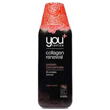 you tonics you+tonics Collagen Renewal Protein Nutritional Drink, Melon Burst, 16 Fluid Ounce