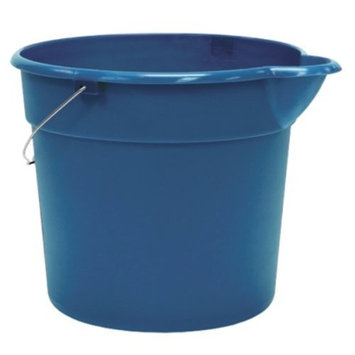 United Abrasives United Solutions PA0010 Blue 3 Gallon (12 Quart) Plastic Utility Pail with Handle and Pouring Spout - Pack of Three (3)
