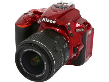 Nikon D3100 Digital SLR Camera Red + 3 Lens: 18-55mm VR Lens + 16GB Bundle
