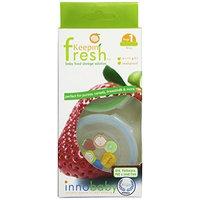 Innobaby Round Food Storage Container, 2 Pack, Stage 1, Green/Blue