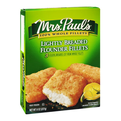Mrs. Paul's Flounder Fillets Lightly Breaded - 3 CT