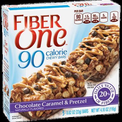 Fiber One 90 Calorie Chewy Bars Chocolate Caramel & Pretzel