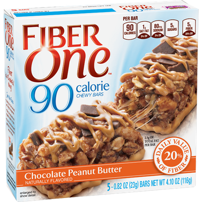 Fiber One 90 Calorie Chewy Bar Chocolate Peanut Butter