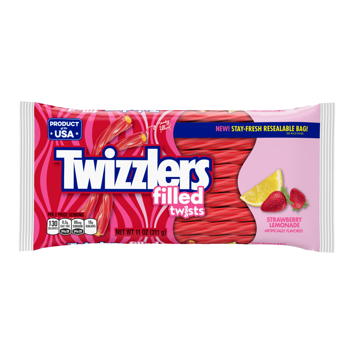 Twizzlers Filled Twists Strawberry Lemonade