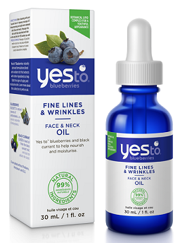 Yes To Blueberries Fine Lines & Wrinkles Face & Neck Oil