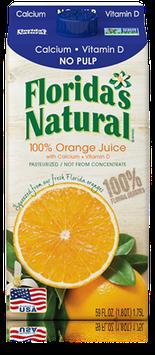 Florida's Natural Orange Juice with Calcium & Vitamin D (No Pulp)