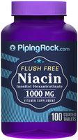 Piping Rock Niacin 1000mg Flush Free 100 Coated Tablets