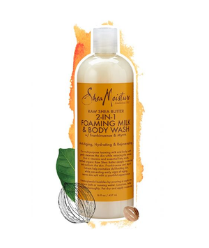 SheaMoisture Raw Shea Butter 2-In-1 Foaming Milk & Body Wash
