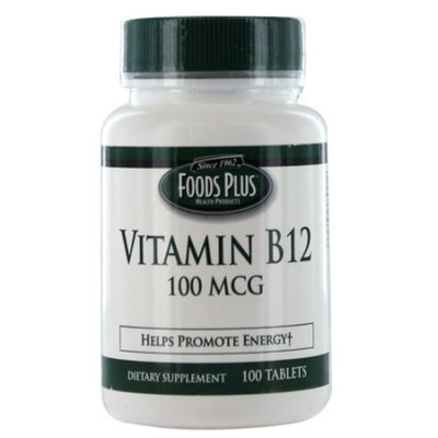 Crest Vitamin B-12 100 Mcg Tablets To Promote Energy By Food Plus - 100 Ea