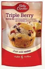 Betty Crocker™ Triple Berry Pouch Muffin Mixes