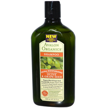 Avalon Organics Extra Moisturizing Olive & Grape Seed Fragrance-Free Shampoo