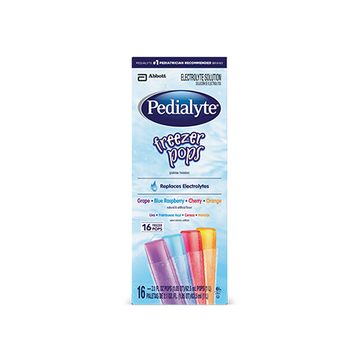 Pedialyte® Freezer Pops Variety Pack Grape, Blue Raspberry, Cherry, and Orange